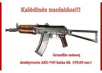 Deaktyvuoto ginklo AKS-74U akcija